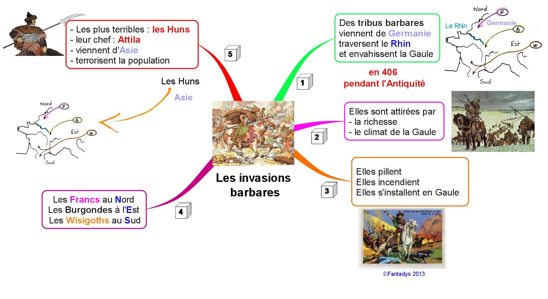 Une carte sur les invasions barbares fantadys - Le grill des barbares ...