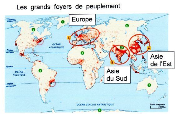 carte population mondiale