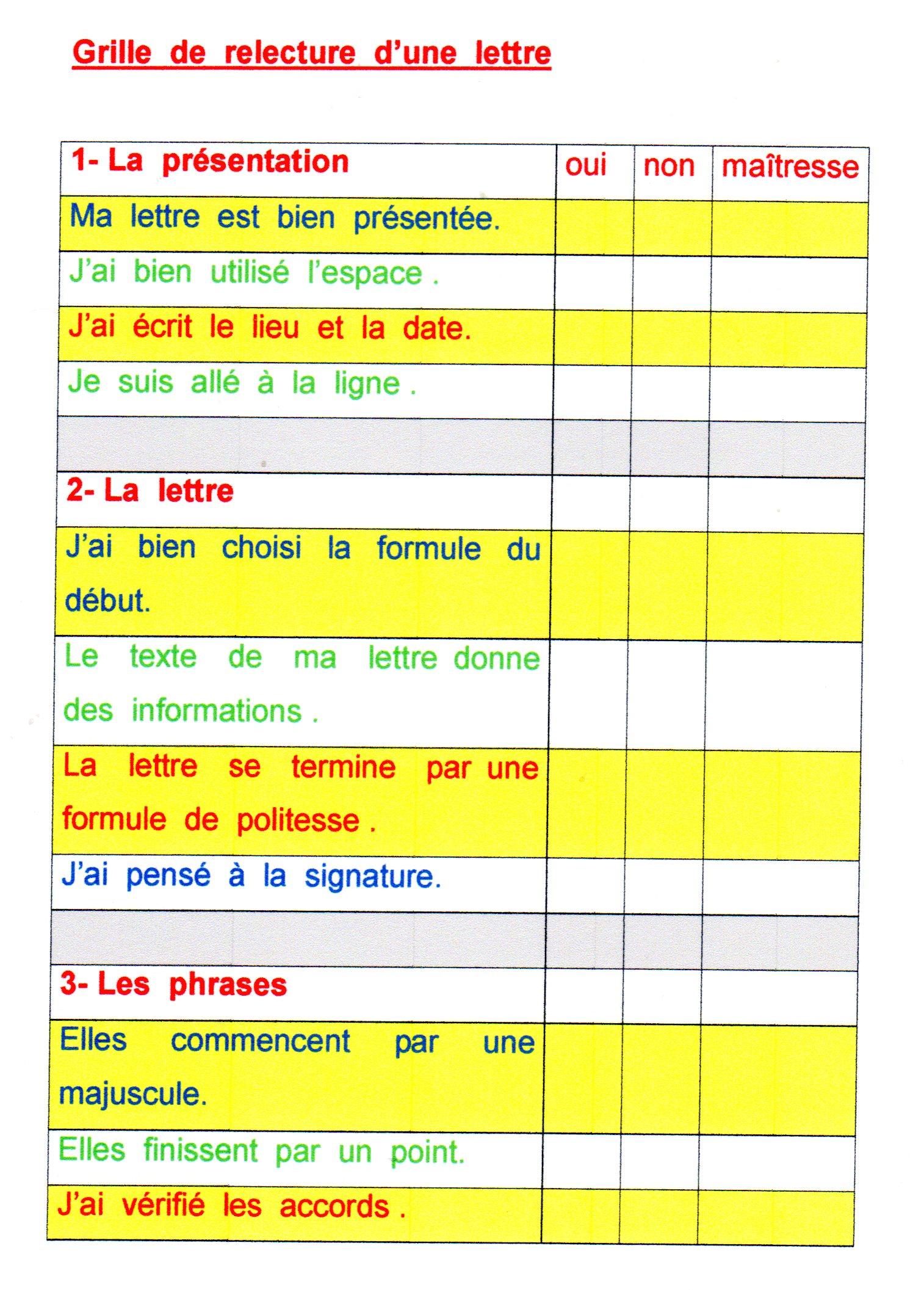 Une carte pour crire une lettre fantadys - Grille evaluation expression ecrite anglais ...