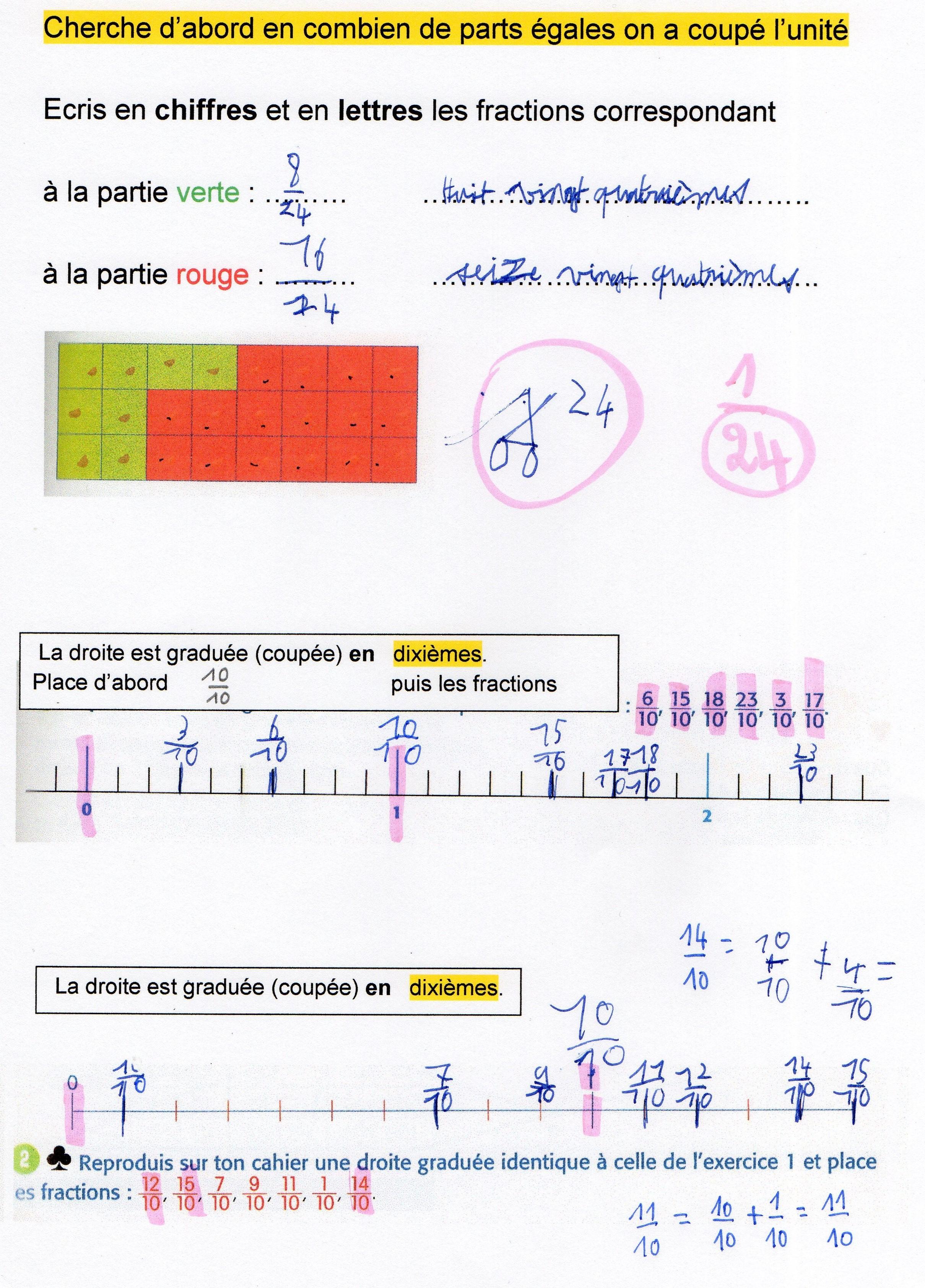 Fractions Decimales Fantadys