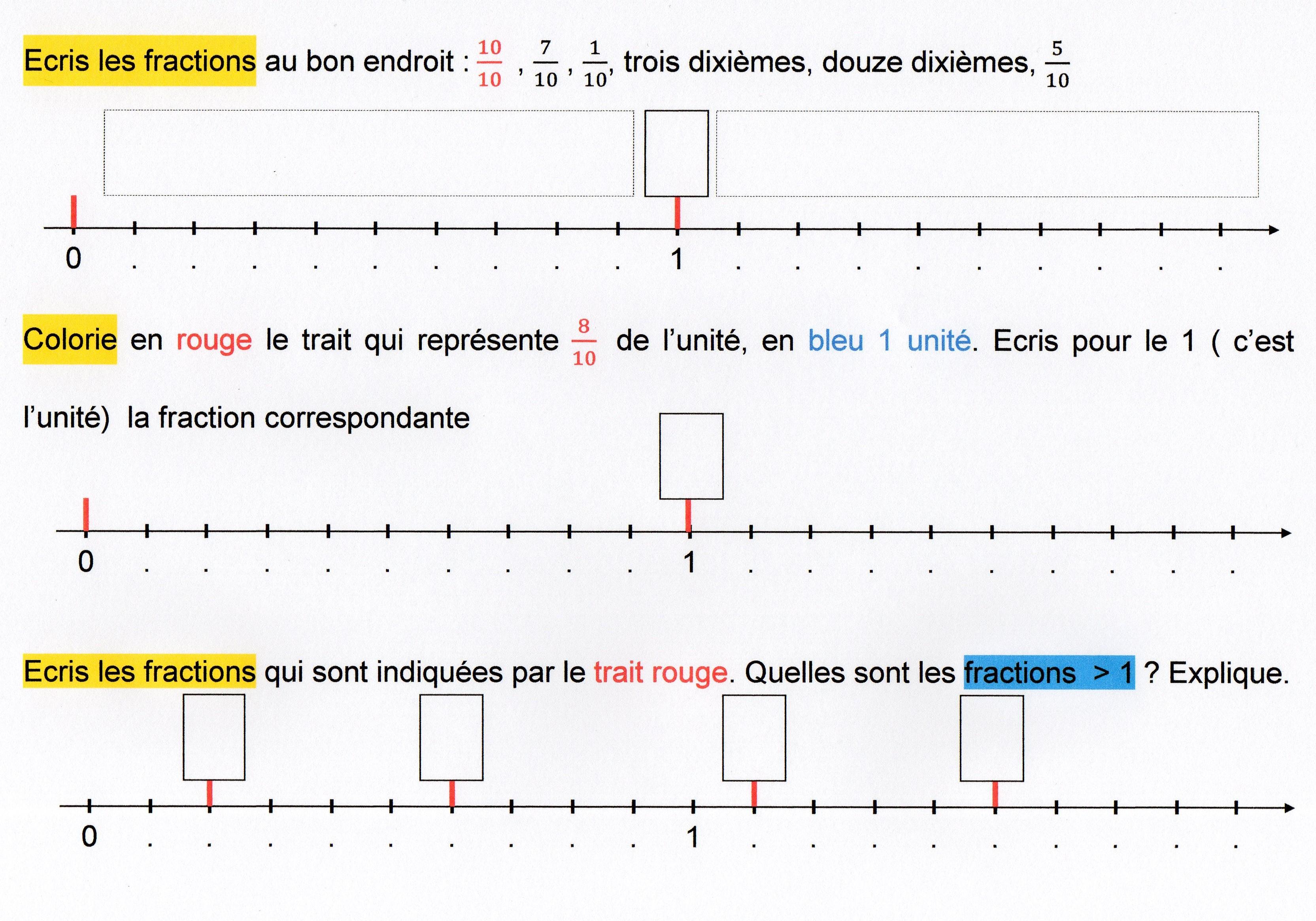 fractions décimales | Fantadys