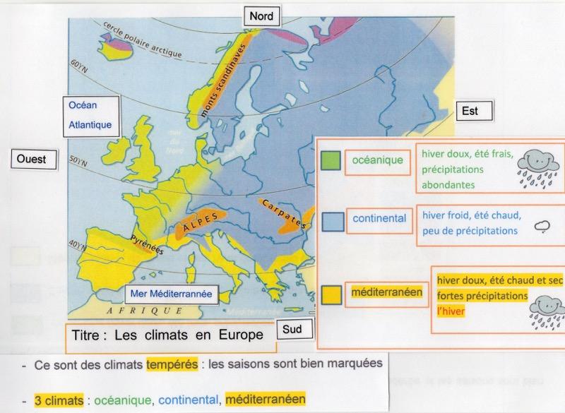 carte europe zone 3