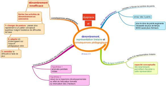 dénombrement,  représentation linéaire et conséquences pédagogiques