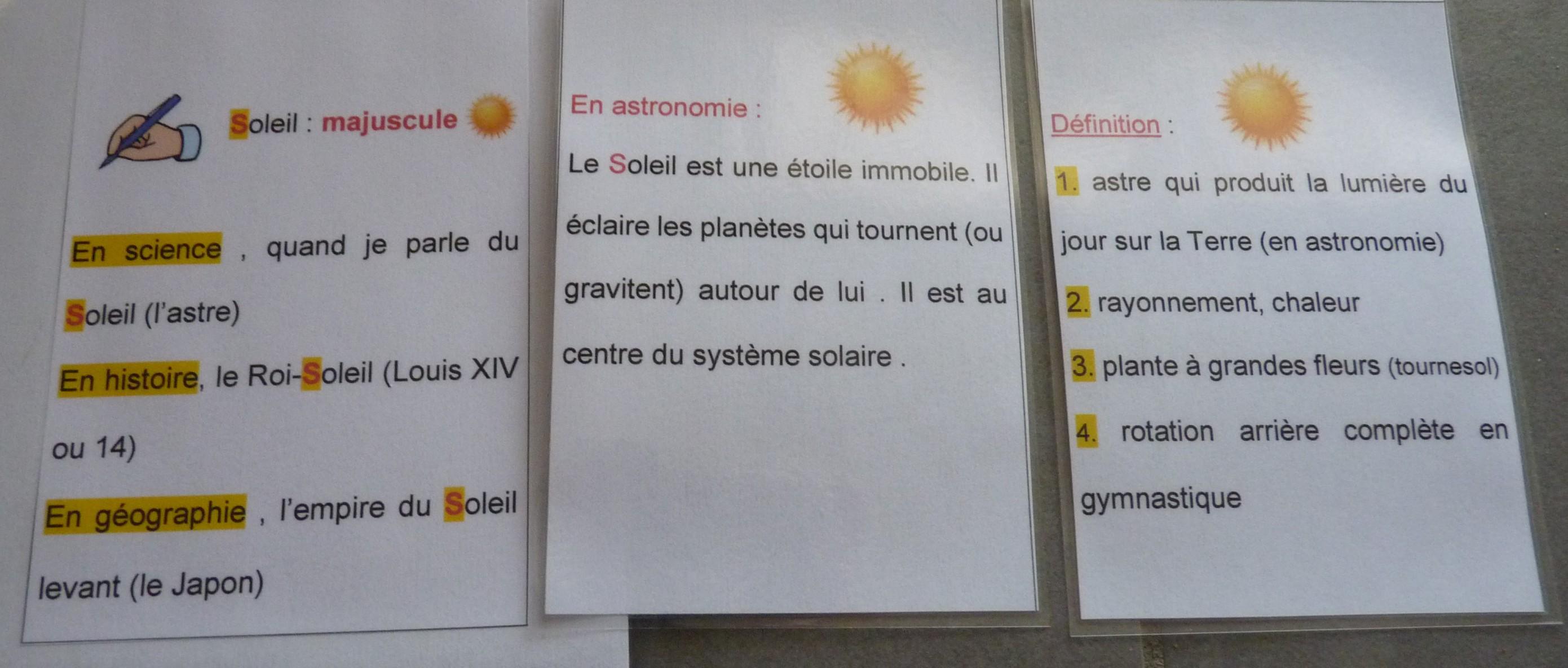 Du c t du vocabulaire comment faire pour augmenter un stock lexical et surtout pour y avoir - Que faire pour les coups de soleil ...