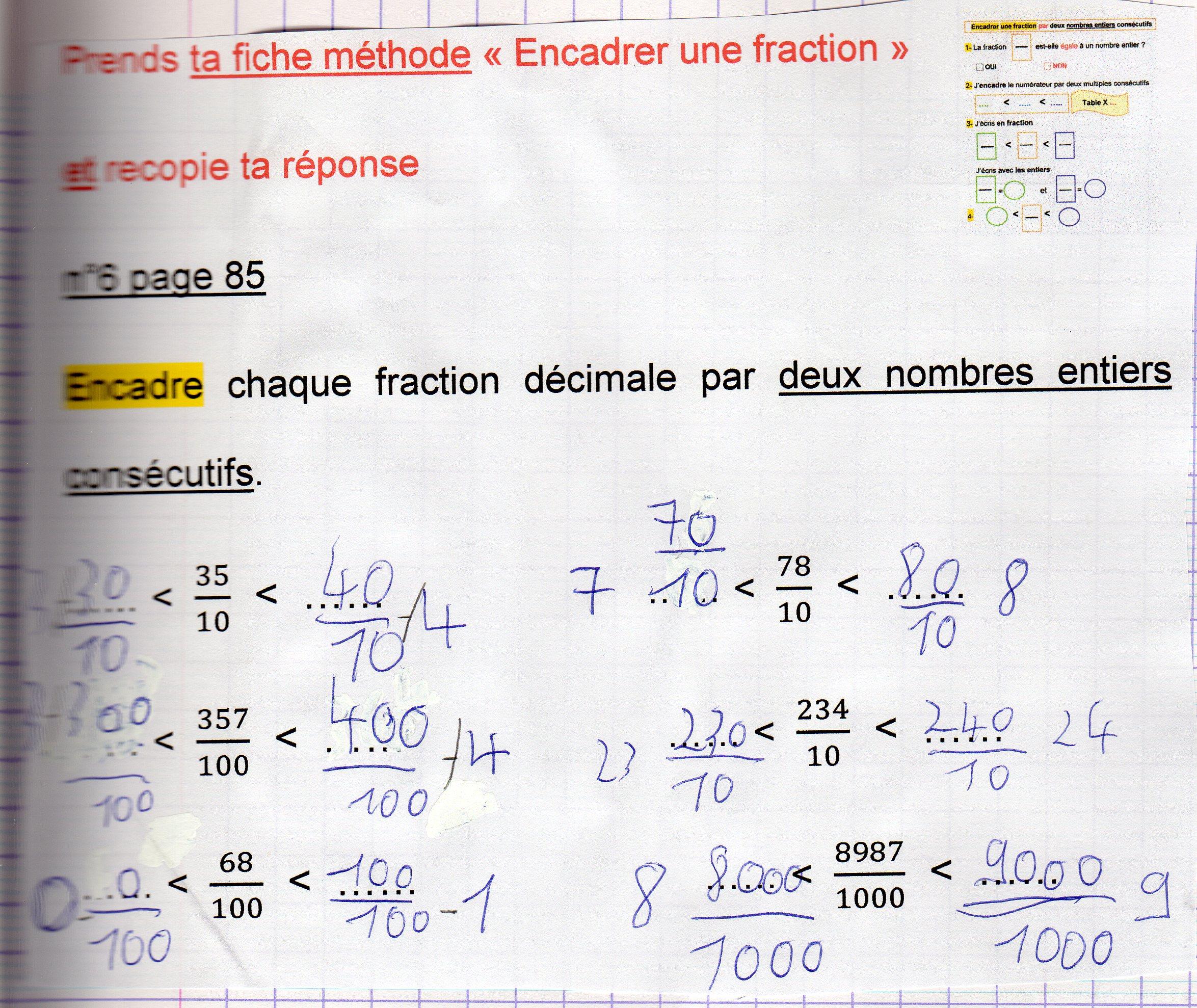 Coloriage Magique Encadrer Des Fractions.Fractions Fantadys