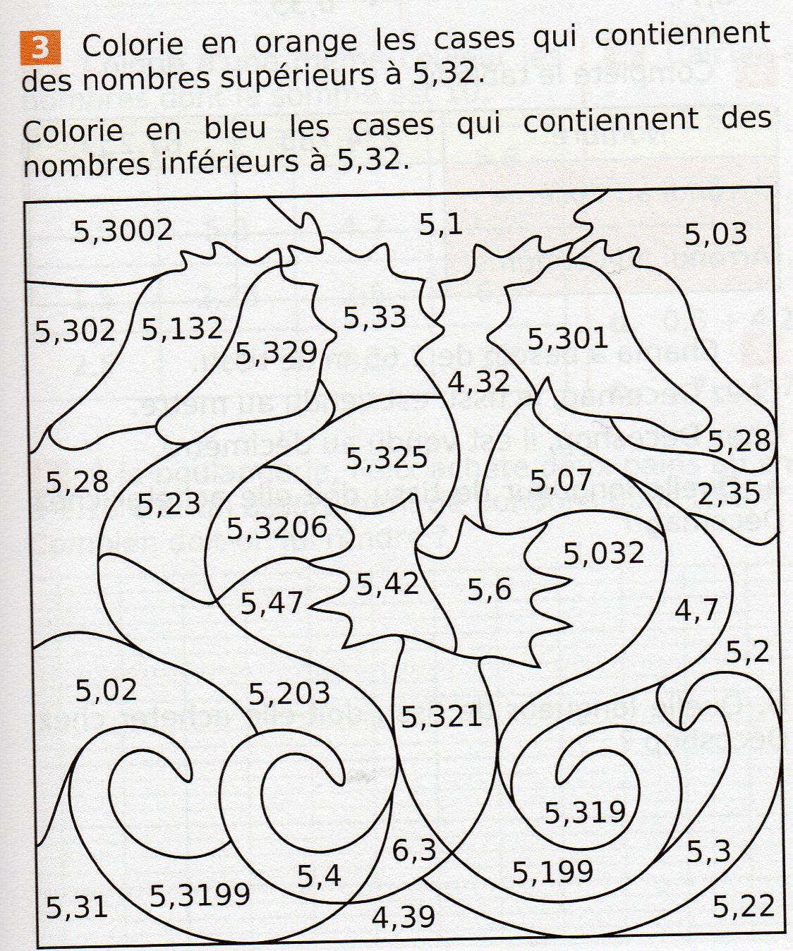Maths fantadys - Coloriage mathematique ...